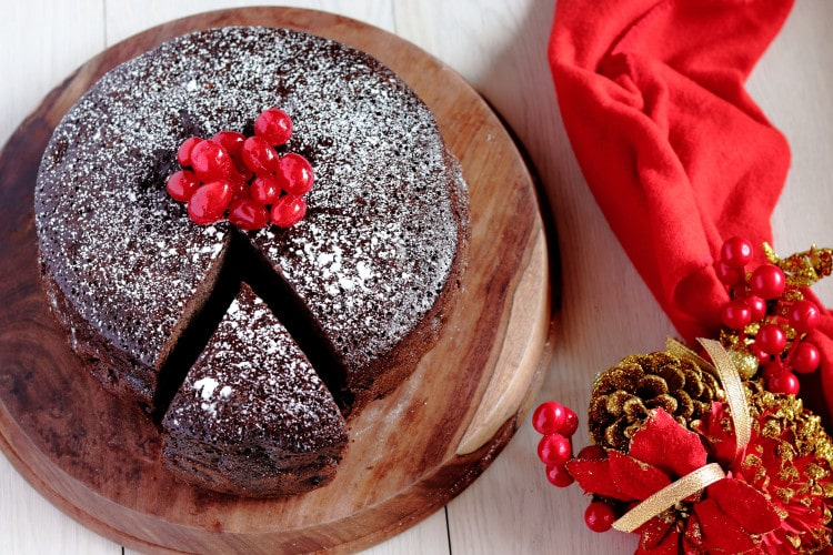 Christmas Fruit Cake with Rum