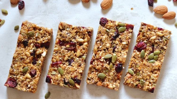 Healthy Granola Bar Recipe – No Bake, No Oven and Sugar-Free