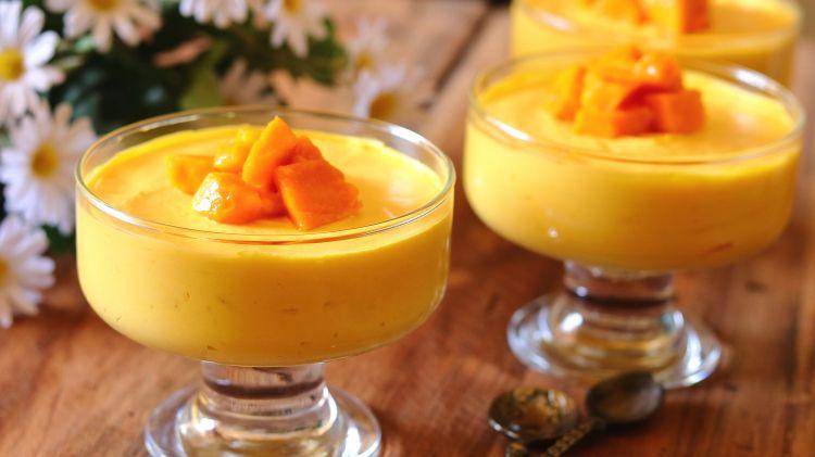 Eggless Mango Mousse | No Bake – 3 Ingredient Recipe
