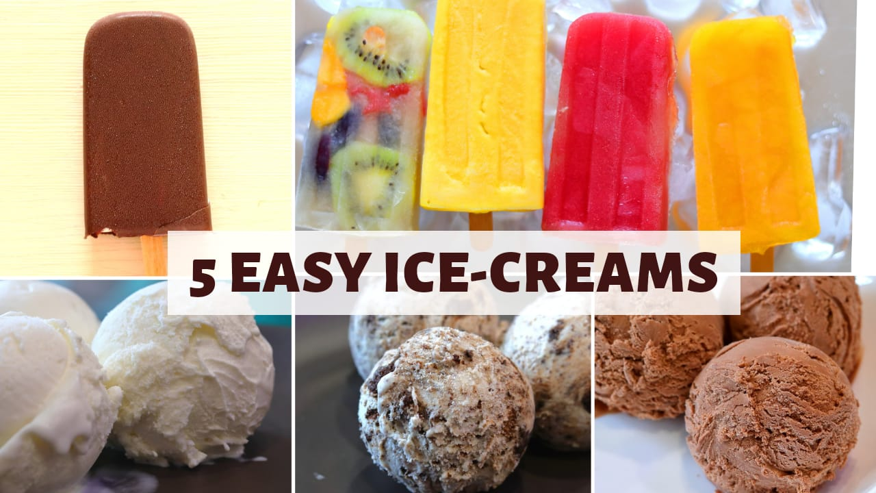 5 Quick & Easy Ice Cream Recipes