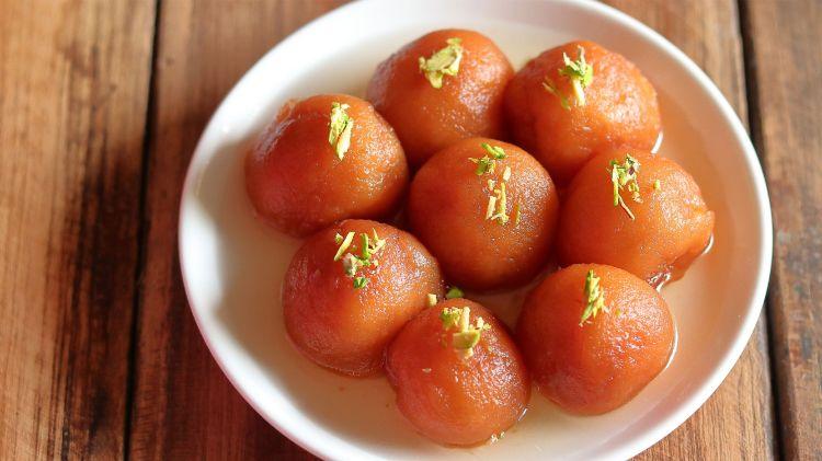 Instant Bread Gulab Jamun