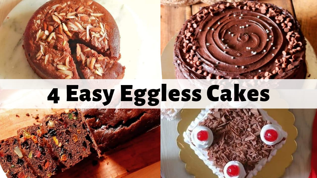 4 Eggless Cake Recipes
