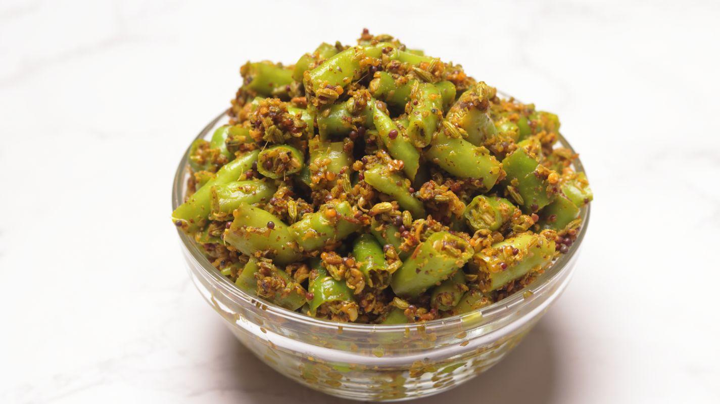 Instant Mirchi Achar| Green Chilli Pickle