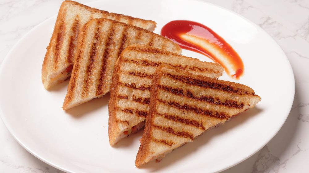 onion tomato cheese sandwich