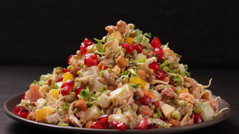 high-protein sprouts salad